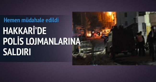 Hakkari'de Polis lojmanlarına saldırı