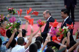 Erdoğan'ın Çin ziyaretinde renkli anlar