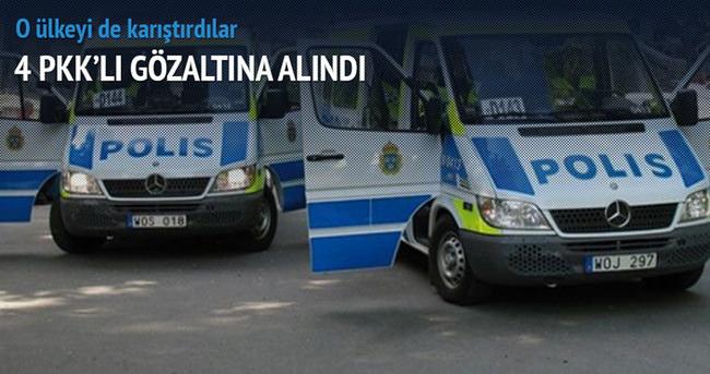 İsveç'te 4 PKK'lı gözaltına alındı