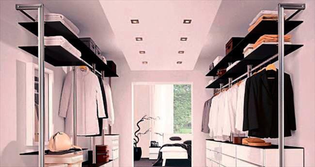 Giysi odaları için pratik çözümler