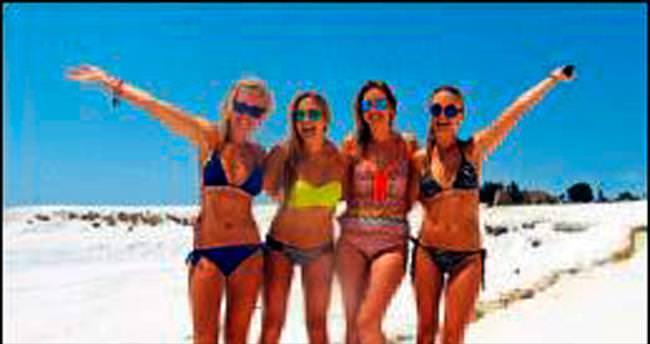 Pamukkale modası yaz kış devam ediyor