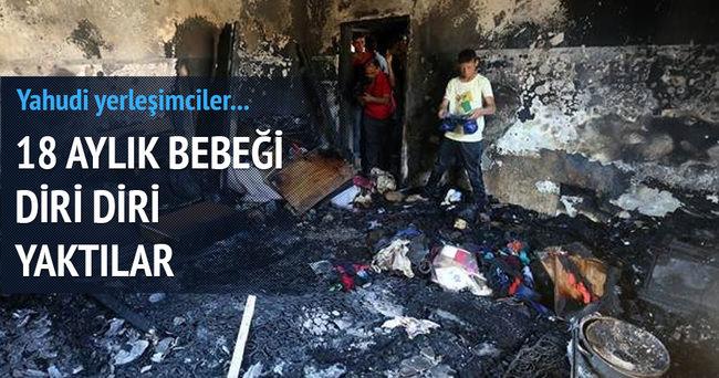Batı Şeria'da 18 aylık Filistinli bebek yakılarak öldürüldü