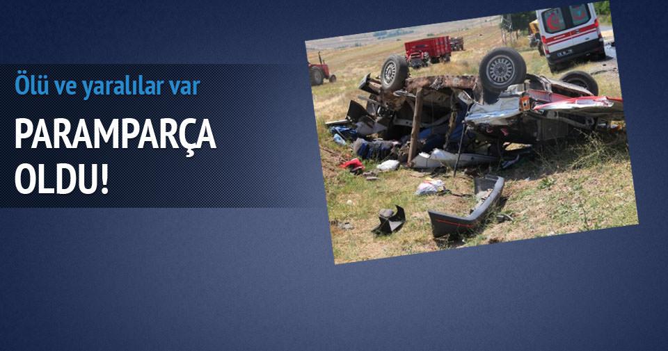 Çankırı'da feci kaza: 3 ölü, 4 yaralı