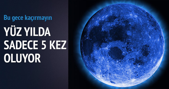 Bu gece Ay masmavi olacak!