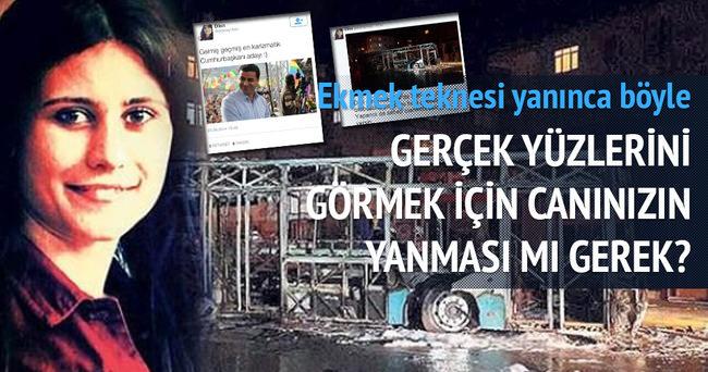 Otobüsleri yakılan HDP'li genç kız isyan etti