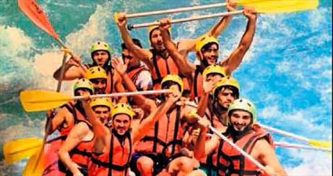 Manavgatspor rafting yaptı
