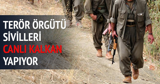 PKK sivilleri canlı kalkan yapıyor