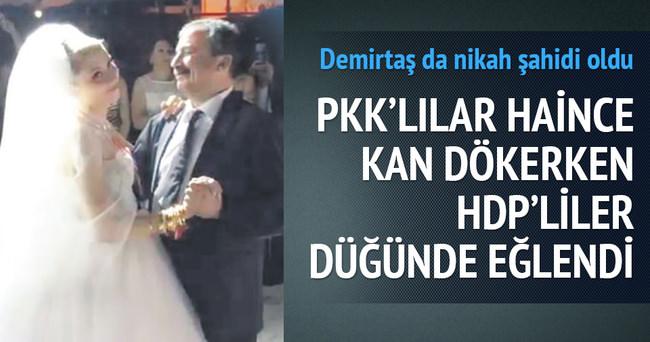 HDP'liler Sırrı Süreyya Önder'in kızının düğününde eğlendi