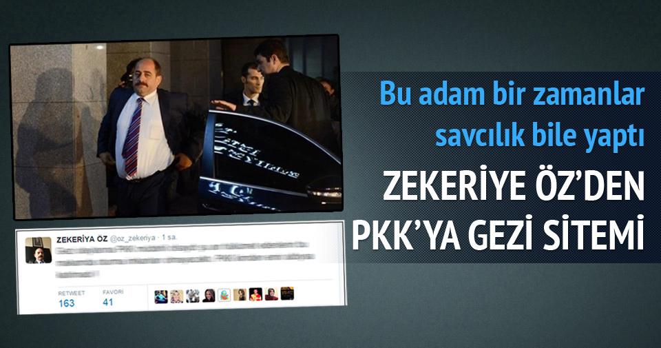 Zekeriya Öz'den PKK'ya gezi sitemi!