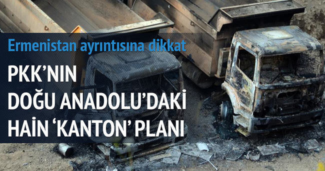 PKK'nın Doğu Anadolu'daki hain 'kanton' planı