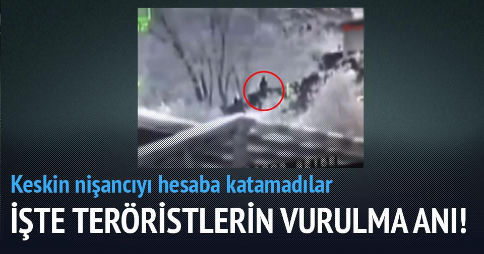 İşte Çatak'taki 2 teröristin vurulma anı
