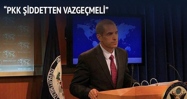 'PKK şiddetten vazgeçmeli'