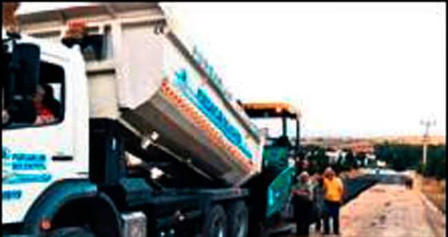 Pursaklar'a 1 ayda 3 bin ton asfalt