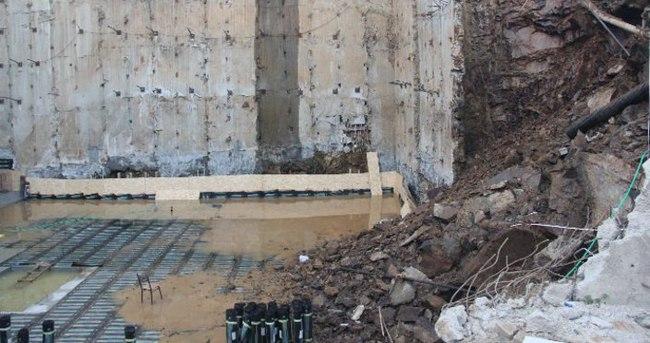 Kağıthane'de istinat duvarı çöktü!