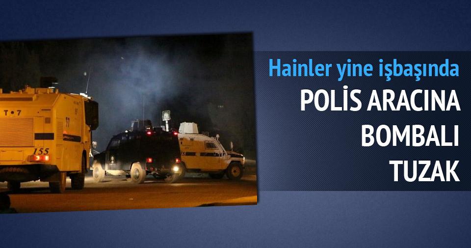 Mardin'de polis aracına hain tuzak