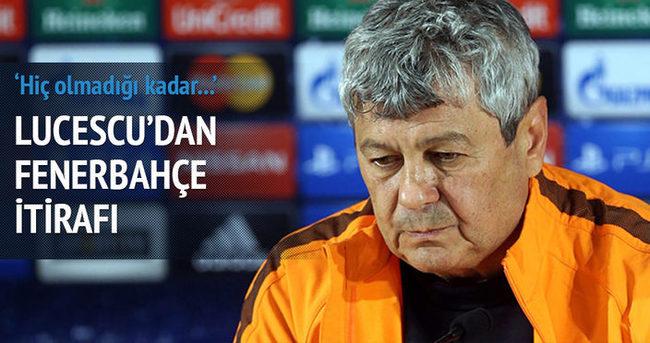 Lucescu'dan Fenerbahçe itirafı