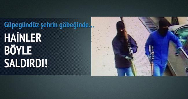 Karakola saldıran teröristler kamerada