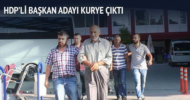 HDP'li başkan adayı kurye çıktı