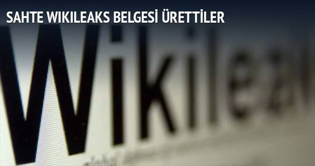 Sahte WikiLeaks belgesi ürettiler