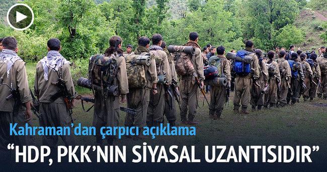 İsmail Kahraman: HDP, PKK'nın siyasal uzantısıdır