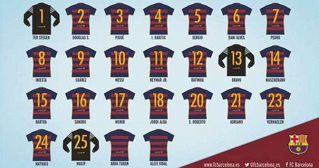 Barcelona'da forma numaraları belli oldu