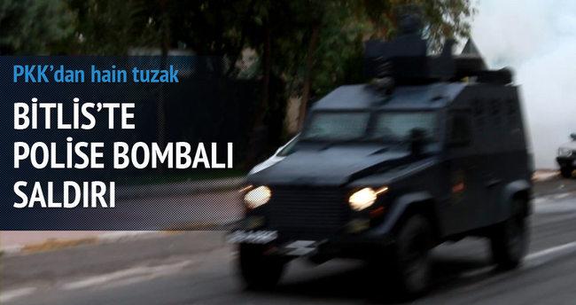 Zırhlı polis aracına bombalı tuzak