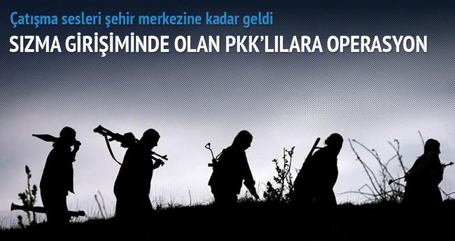 Sızma girişiminde olan PKK'lılara operasyon