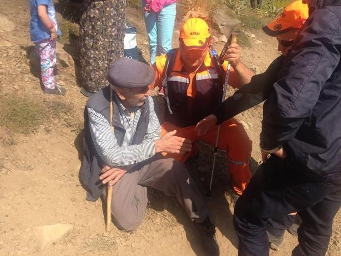 Ormanlık Alanda Kaybolan Yaşlı Adam 1 Gün Sonra Sağ Olarak Bulundu