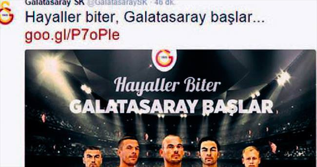 Twitter'da coştular: Hayaller biter, Galatasaray başlar...