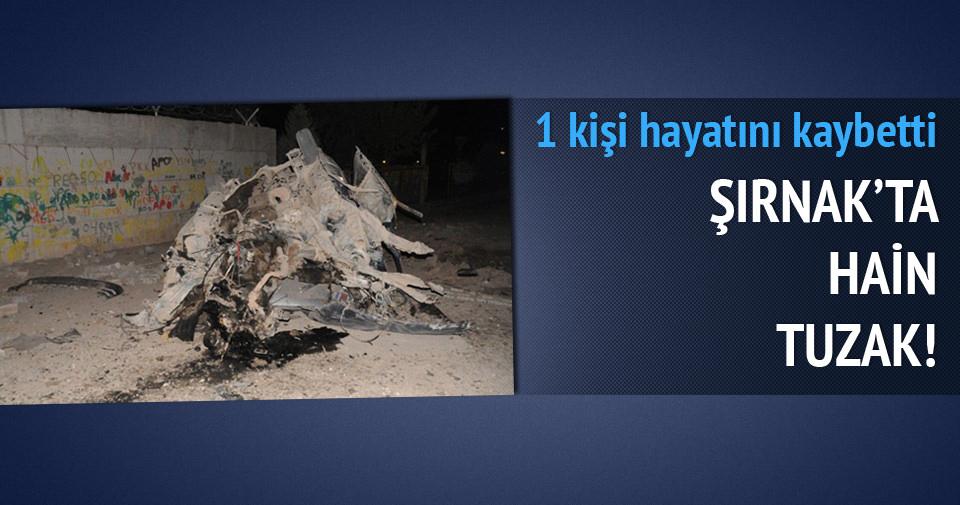 Şırnak'ta yola döşenmiş bomba patladı: 1 ölü
