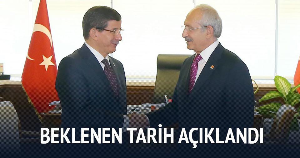 Davutoğlu ve Kılıçdaroğlu Pazartesi görüşecek