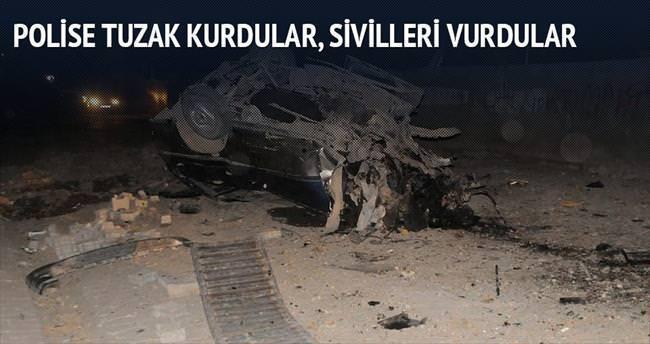 Polise kurdukları tuzakla sivil vurdular