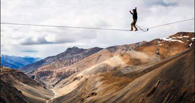 5 bin metrede korkuya meydan okudular
