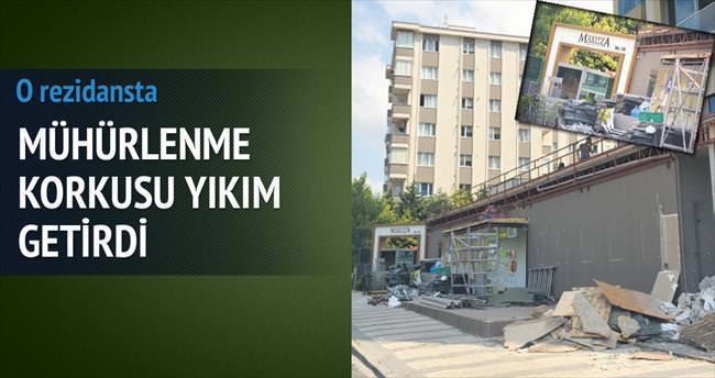 'Kaçak şehir'de ilk yıkım yapıldı
