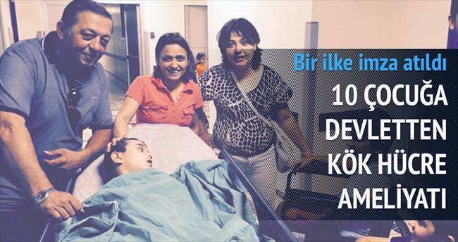 10 çocuğa devletten kök hücre ameliyatı