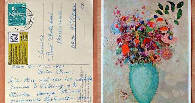 Kartpostal 50 yıl sonra yerine ulaştı