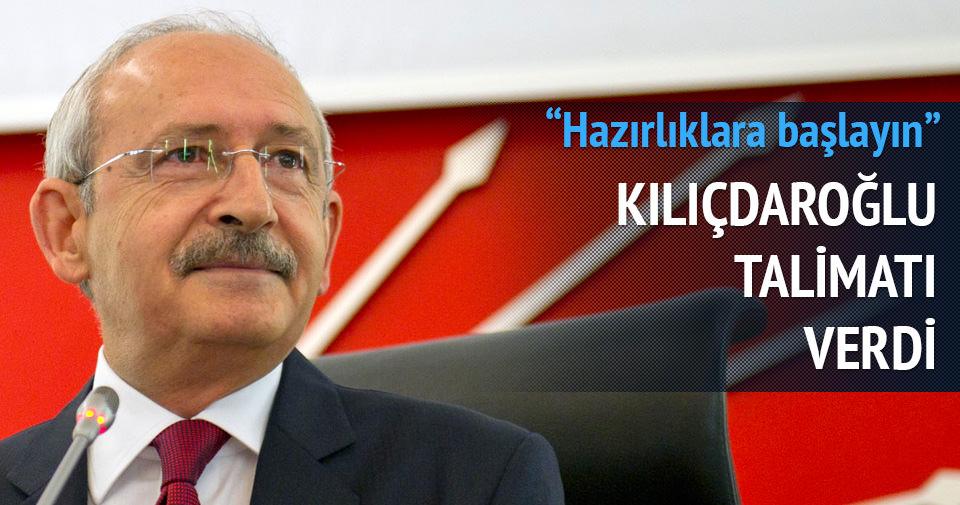 Kılıçdaroğlu talimatı verdi: Seçim hazırlıklarına başlayın