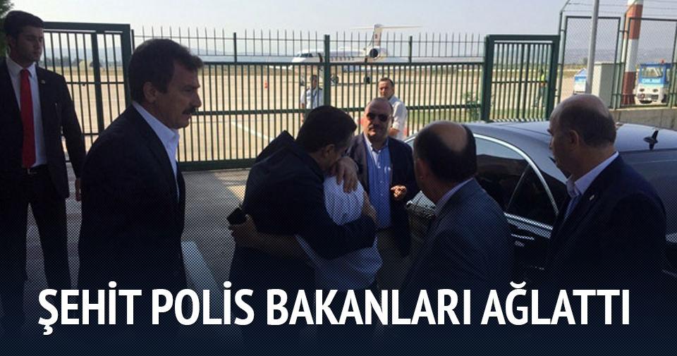 Şehit polis bakanları ağlattı