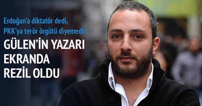 Gülen'in yazarı ekranda rezil oldu
