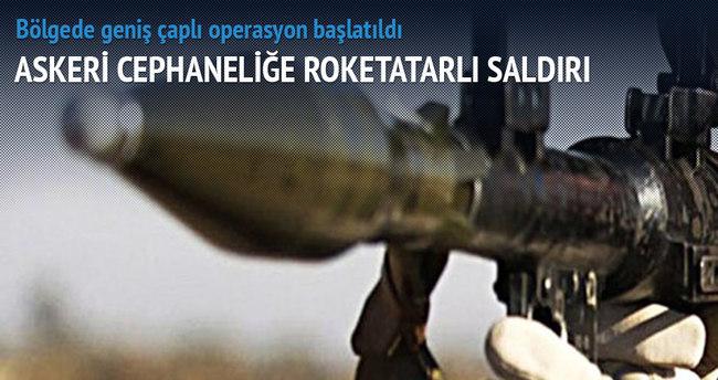 Askeri cephaneliğe roketatarlı saldırı