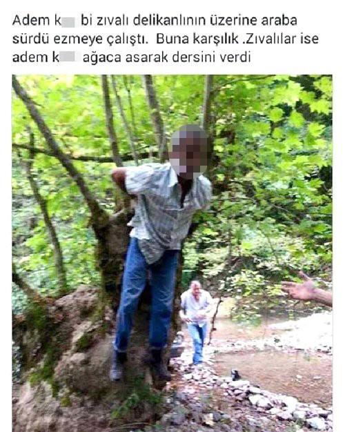 Kayınpederini Ağaca Bağladı, Fotoğrafını Çekip Sosyal Medyada Paylaştı