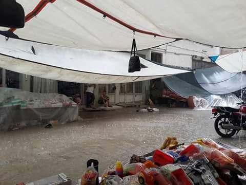 Karpuzlu'da Sağnak Yağmur Etkili Oldu