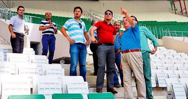 TFF yetkilileri yeni stadı gezdi