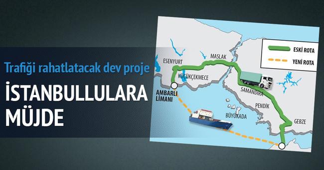 TIR'lar denizden geçecek İstanbul trafiği rahatlayacak