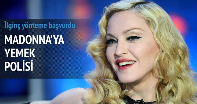 Madonna'ya yemek polisi
