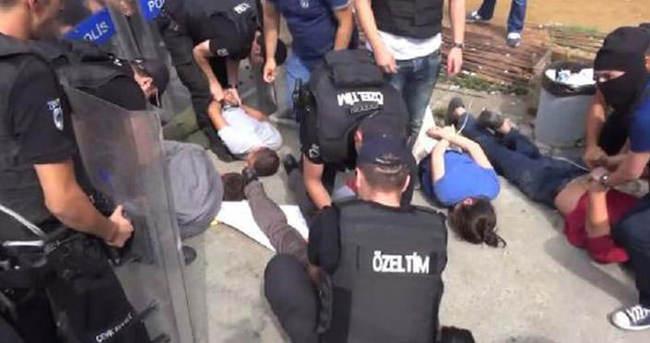 Şişli Etfal önünde müdahale: 8 gözaltı