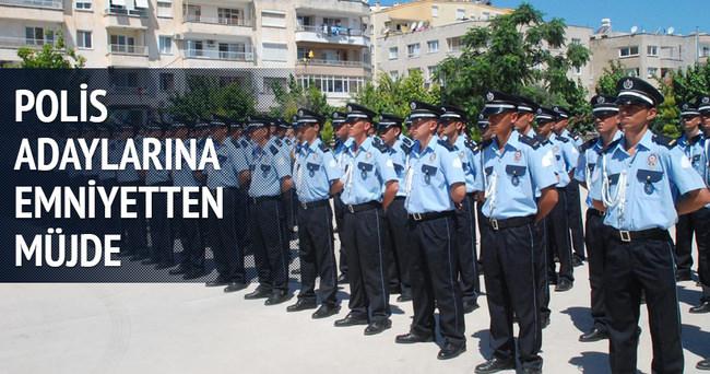 Polislik adaylarına Emniyet'ten müjde