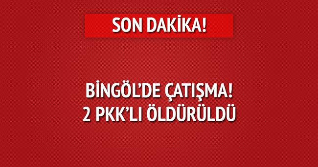 Bingöl'de çatışma! 2 PKK'lı öldürüldü