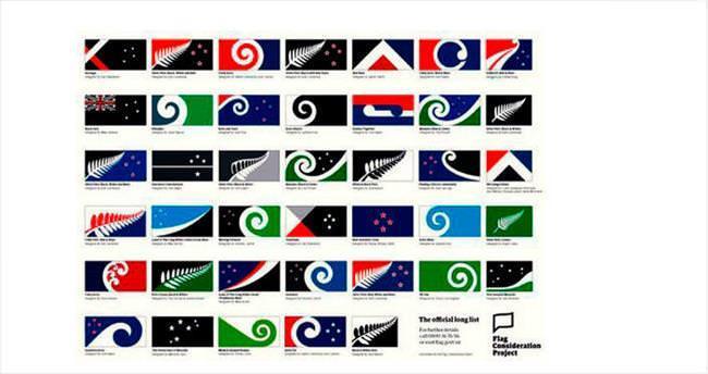 Yeni Zelanda'da 40 milli bayrak adayı