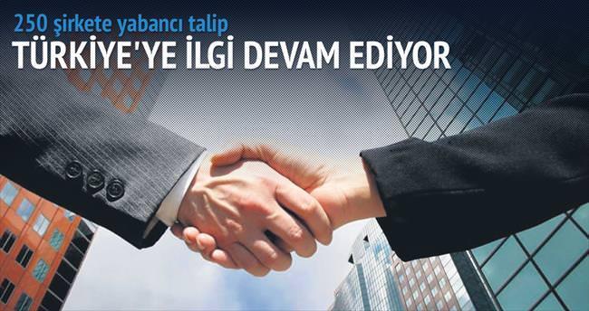 250 şirkete yabancı talip